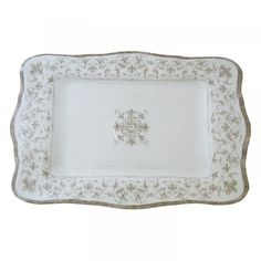 Le Cadeaux Bella White Nesting Trays Set of Two