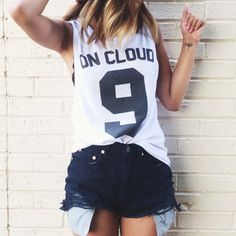 Aly in the So Ripped Cutoff Shorts || Get the shorts: http://www.nastygal.com/clothes-bottoms-shorts/so-ripped-cutoffs?utm_source=pinterest&utm_medium=smm&utm_term=ngdib&utm_content=nasty_gals_do_it_better&utm_campaign=pinterest_nastygal