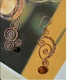 Wire Wrapped Earrings Tutorial (Item ID: 101581, End Time : N/A) - DIY Lessons - Learn Jewelry Making With Online Lessons, Videos and PDF Tutorials