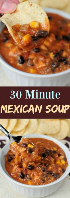 30 Minute Mexican Soup - Perfect for busy weeknights!-2