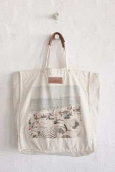 Canvas Beach Tote via benah