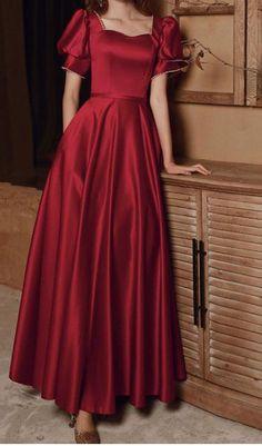 Satin Dresses, Formal Dresses, Dress Outfits, Fashion Dresses, Frack, Prom Party Dresses, Long Sleeve Mini Dress, Dress Backs, Ball Gowns