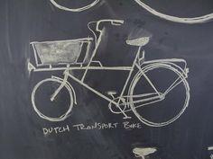 Cargo bikes will adorn my chalk wall