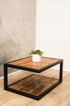 Epoxy Table stolik kawowy industrialny LOFT Some homeowners enjoy the vibrancy of flowers in their y Welded Furniture, Industrial Design Furniture, Loft Furniture, Iron Furniture, Steel Furniture, Home Decor Furniture, Pallet Furniture, Furniture Projects, Rustic Furniture