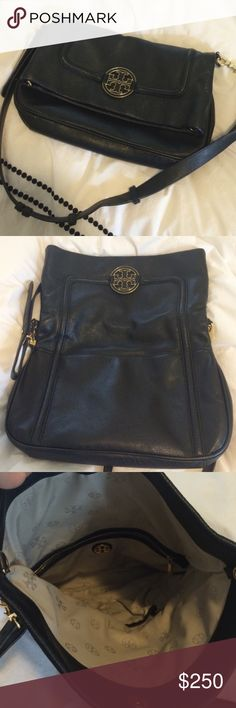 Tory Burch Amanda crossbody Brand new condition, barely used. Amanda foldover bucket style crossbody. Great leather bag with lots of room! Bags Crossbody Bags