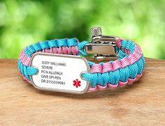 Light Duty Survival Bracelet Custom Medical Alert
