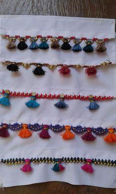 Saree Tassels Designs, Saree Kuchu Designs, Wedding Saree Blouse Designs, Rangoli Designs, Aari Embroidery, Hand Embroidery Videos, Embroidery Dress, Machine Embroidery, Crochet Designs