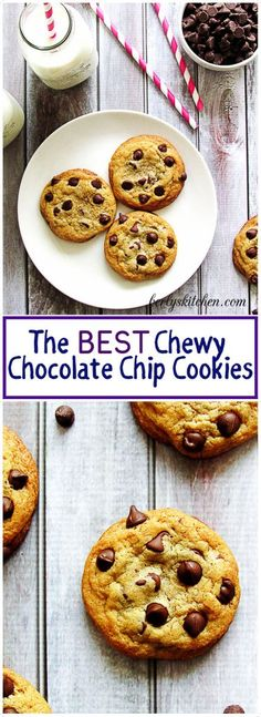 These chocolate chip cookies are the best chewy chocolate chip cookies you'll ever eat.  They are chewy, sweet, and stay soft for days. via @berlyskitchen