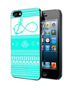 Mint Aztec Pattern Infinity Anchor Samsung Galaxy S3/ S4 case, iPhone 4/4S / 5/ 5s/ 5c case, iPod Touch 4 / 5 case