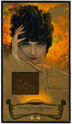 Jazz Age Flapper 1930 Rolf Armstrong Pin Up Calendar Art Deco Westinghouse Adv | eBay