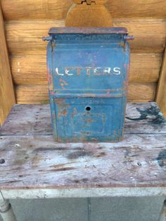 USPS Letters Mailbox Cast Iron.  No makers mark or year. I'm thinking 1920 - 1938.