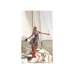 Overboard ($95) ❤ liked on Polyvore featuring models and a line slip