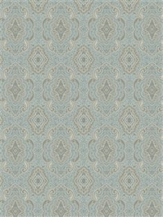 Shand Kydd - Chelsea Wallpaper | AmericanBlinds.com #blue #gold #moroccan
