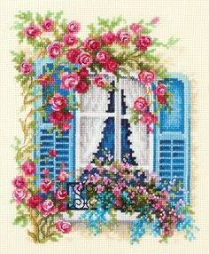 Blossoming Window Cross Stitch Kit, You can make really particular habits for textiles with cross stitch. Cross stitch designs can nearly amaze you. Cross stitch beginners can make the designs they want without difficulty. Cross Stitch Bookmarks, Cross Stitch Cards, Cross Stitch Borders, Cross Stitch Alphabet, Counted Cross Stitch Kits, Cross Stitch Flowers, Cross Stitch Designs, Cross Stitch Animals, Cross Stitch Patterns
