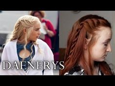 ▶ Game of Thrones Hair Tutorial - Daenerys Targaryen Season 4 - YouTube