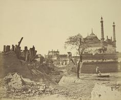 Ruins of a Sepoy Battery, After Indian Mutiny - Lucknow, c1858