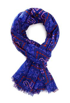 Frayed Tribal Print Scarf - NEW ARRIVALS - ACCESSORIES - Scarves & Gloves - 1000067653 - Forever 21 UK