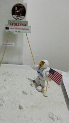 Buzz with American flag on the surface of the moon.. sea of tranquillity.. Apollo 11 by Mekhael Abdur Rahman