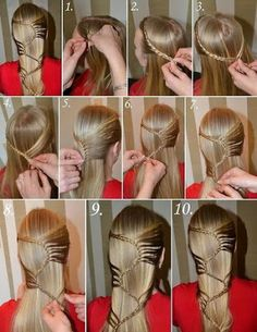 Cute simple hairstyles are very cute and actually a lot simpler than it looks. Start by doing a regular crown braid and as you braid the . Braided Hairstyles Tutorials, Cute Hairstyles, Braid Tutorials, Easy Hairstyle, Hairdos, Braid Hairstyles, Party Hairstyles, Updos, Homecoming Hairstyles
