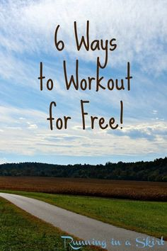 A simple video guide to free workouts.  Simple ways to get fit on a budget and get back to healthy living. / Running in a Skirt