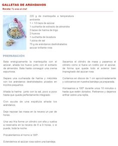 GALLETAS DE ARANDANOS #ClippedOnIssuu from Whole kitchen 13