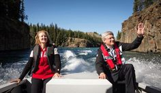 Laureen and Stephen Harper tour the Canadian wilderness he's helped destroy. - PMO PHOTO JASON RANSOM