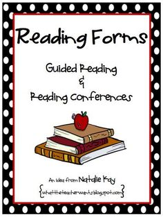 What the Teacher Wants!: Reading Forms - Freebie!