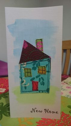 398 best fabric greeting cardspictures images on pinterest in 2018 handmade applique fabric card wonky house m4hsunfo