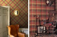 I absolutely love both of  these tartan wallpapers!!!