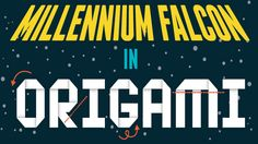Any Star Wars fan will love this infographic: a guide to creating an origami Millennium Falcon.