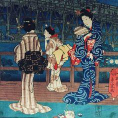 Arte japonés en el #museoprovincial de #Zaragoza Una maravilla! #hiroshige