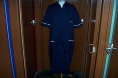 Boyd Cooper Navy Blue White Trim Nurse Dress Overall Healthcare Uniform UK 28