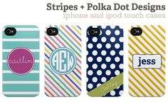 SO many cute iPhone or iPod touch cases!! These are just a FEW!