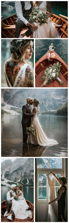 The Couple: Elisabeth & Marcel | The Photographer: Blitzkneisser foto & film | The Location: Lake Braise, Italy | The Look: Tamsin Gown, Catherine Deane. See more of our beautiful real brides on Pinterest. Catherine Deane, Marcel, Brides, Italy, Gowns, Couples, Beautiful, Collection, Vestidos