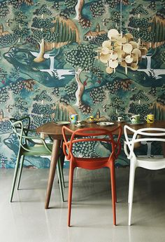 Eclectic Woodland Dining by Heal's featuring the Masters Chairs by Kartell  heals.co.uk, via Flickr
