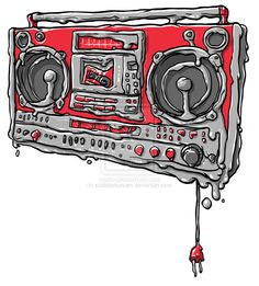 melting boombox by scribblehutsam.deviantart.com
