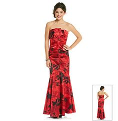 Product: Jump® Juniors' Print Strapless Gown