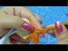 step by step CROCHE - BARRADO EM CROCHE MODELO 2
