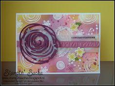 Stampin' Sacha - Stampin' Up! - Annual Catalogue 2016-2017 - Swirly Bird - Swirly Scribbles Thinlits - Teeny Tiny Sentiments - Emboss Resist Technique - Rich Razzleberry - Sweet Sugarplum - Flirty Flamingo - Daffodil Delight - Birthday Card - #stampin_sacha - #stampinup