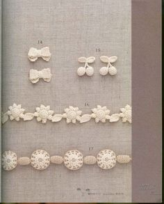 crochet edgings  @Af's collection mini motifs & flowers