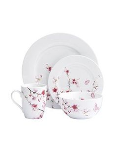 Cherry Blossom 16 Piece Dinnerware Set  sc 1 st  Pinterest & Coventry Bloomaline Yellow Dinnerware Set | apartment redesign ...