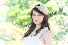 wedding hair accessories bridal fascinator by serenitycrystal, $60.00