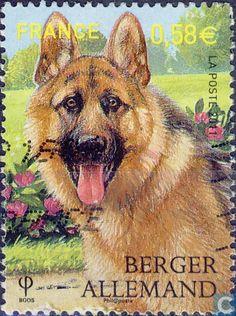 Postage Stamps - France [FRA] - Dogs and dog breeds