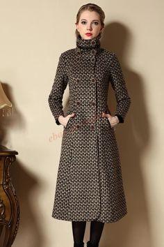 H Women Winter Long Trench Coat Vogue Wool Peacoat Parka Windbreaker Jacket Hot Winter Coats Women, Coats For Women, Clothes For Women, Long Trench Coat, Double Breasted Coat, Hot Outfits, Windbreaker Jacket, Passion For Fashion, Parka