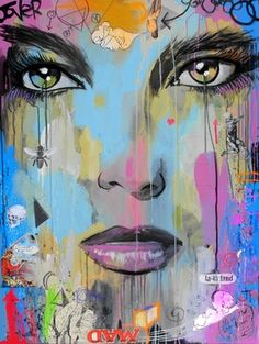 "Loui Jover; Painting, ""ghosts in la la land (canvas)"""