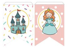 👑🎉✨🥳🎈 #princesa #banderin #cumple #fiesta #fiestainfantil #imprimiblegratis #Cartelgratis #banderines #principe #fiestatematica #fiestabonita Birthday Bunting, Printable, Theme Parties, Pretty, Poster, Princesses