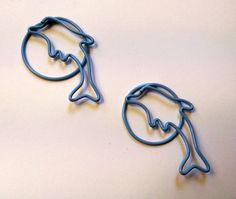 Blue Dolphin Paper Clips - Planner, Journal, Bookmark, Scrapbook