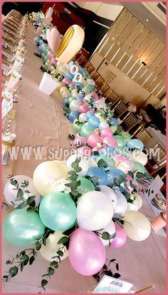 Balloon Table Centrepiece Balloon Table Runner Organic