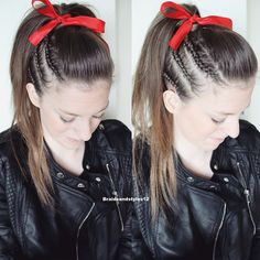 Edgy Hairstyle perfect for Valentines, Edgy Braids, Valentines Day Ideas  . Comment below if you'd like a tutorial! ;)  Braidsandstyles12    My youtube : https://www.youtube.com/user/Dmmr1000/featured