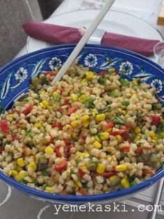 Patlıcanlı bugday salatası